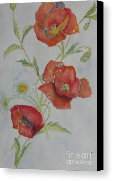 Flower Canvas Print featuring the painting Love by Djl Leclerc