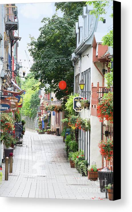 Quebec Canvas Print featuring the photograph Lower Town by Judy Tomlinson