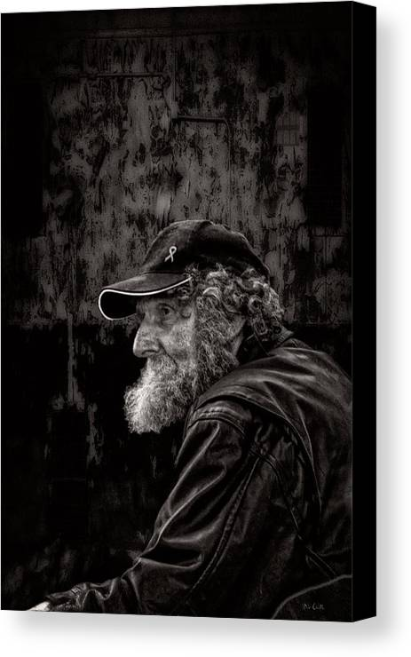 Beard Canvas Print featuring the photograph Man With A Beard by Bob Orsillo