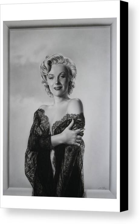 Marilyn Canvas Print featuring the painting Marilyn In Lace by Terry Stephens