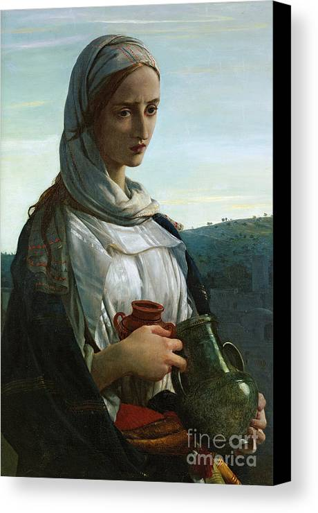 Mary Madgalen Canvas Print featuring the painting Mary Madgalen by JR Herbert