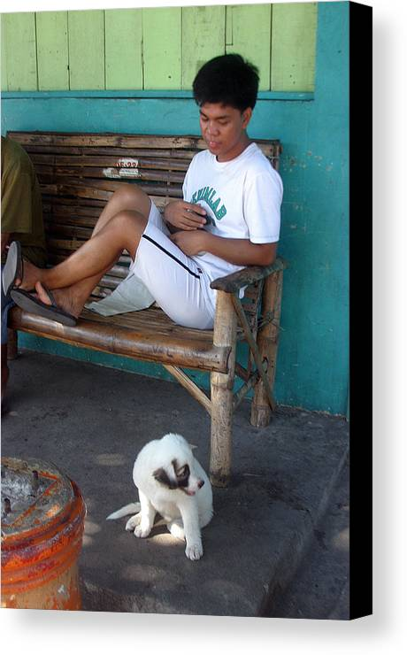 Photographer Canvas Print featuring the photograph Me And My Pup by Jez C Self