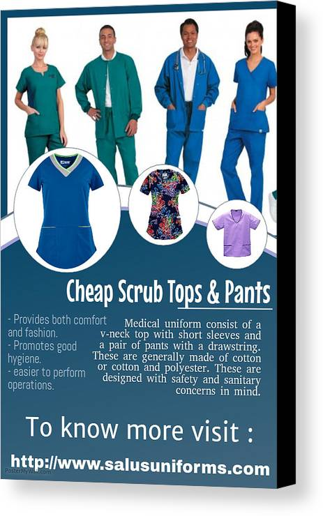 Cheap Scrub Pants Canvas Print featuring the photograph Medical Scrubs by ClydeWalker