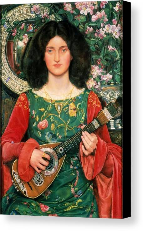 Kate Elizabeth Bunce - Melody Ca. 1895-97 Canvas Print featuring the painting Melody by MotionAge Designs