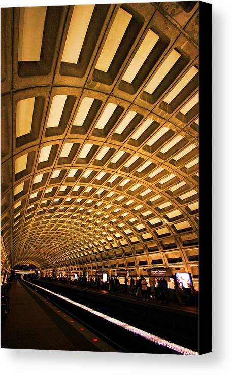 Metro Canvas Print featuring the photograph Metro Station by Mitch Cat