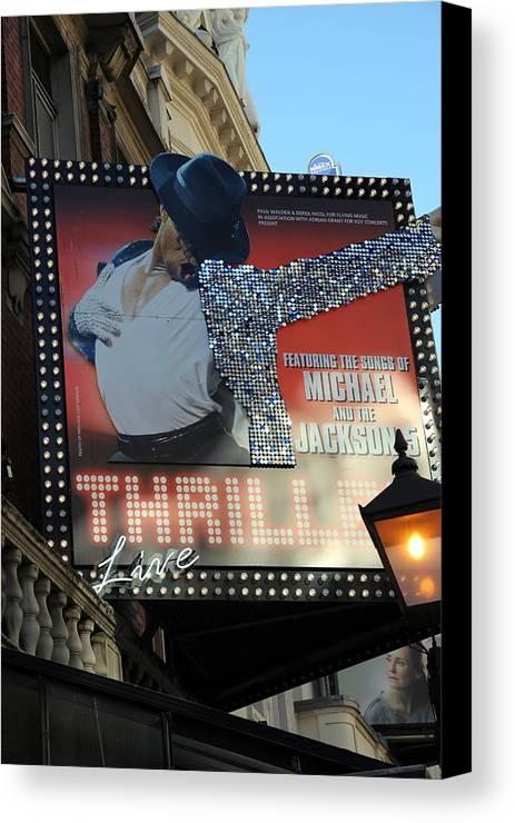 Michael Jackson Canvas Print featuring the photograph Michael Jackson Musical by Sophie Vigneault