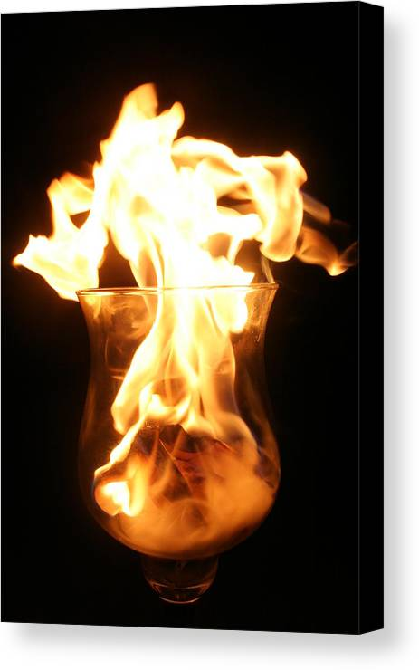 Fire Canvas Print featuring the photograph Minor Explosion by Cassandra Wessels