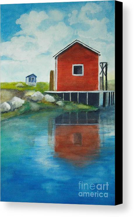 Landscape Canvas Print featuring the painting Molly by Vivian Mosley