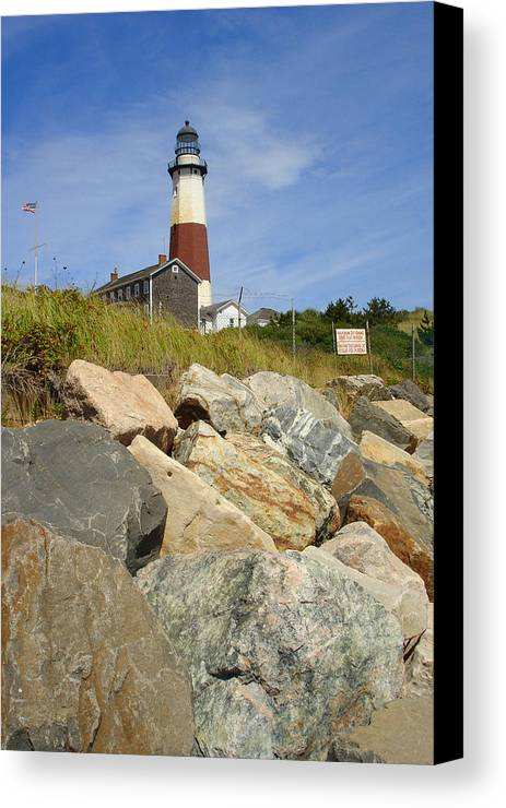 Montauk Canvas Print featuring the photograph Montauk Lighthouse 2 by Michael Simeone