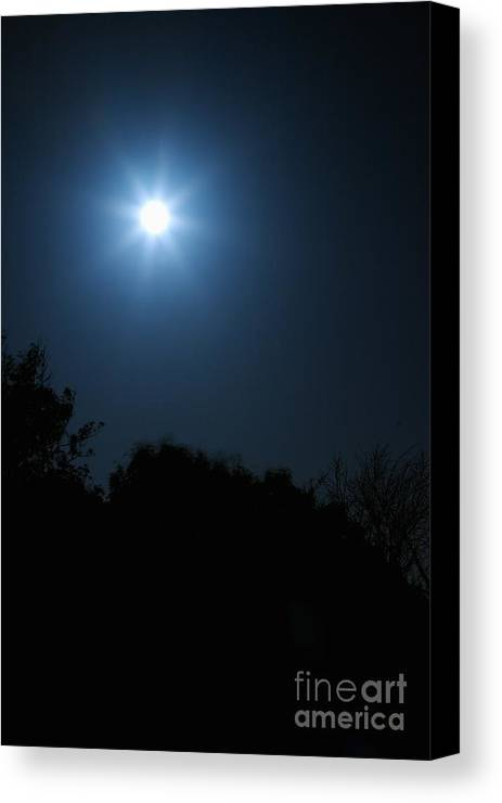 Moon Canvas Print featuring the photograph Moon Star by Hideaki Sakurai