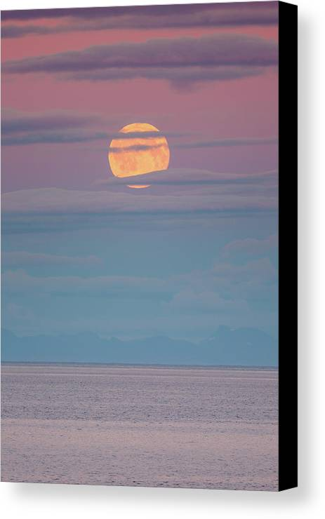Moon Canvas Print featuring the photograph Moonrise by Alex Conu