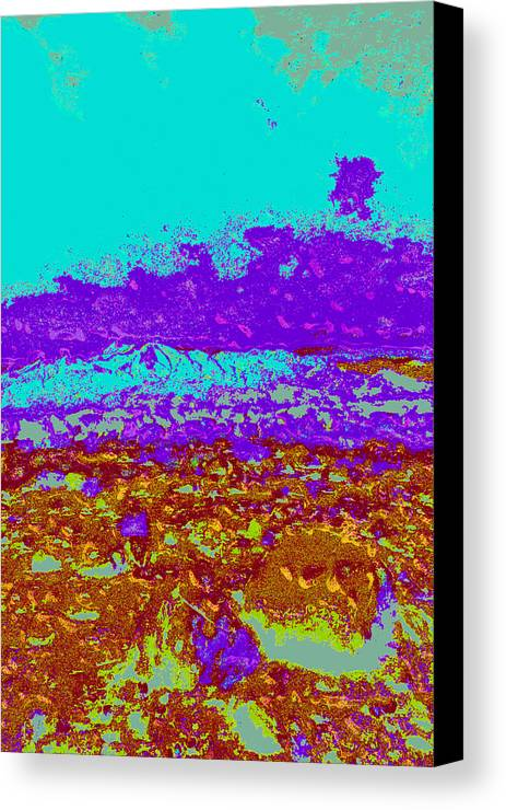 Canvas Print featuring the digital art Mountains Sky D4 by Modified Image