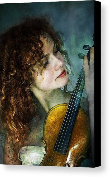 Girl Canvas Print featuring the photograph Music My Love by Zygmunt Kozimor
