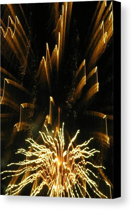 Fireworks Canvas Print featuring the photograph Music To My Eyes by Rhonda Barrett
