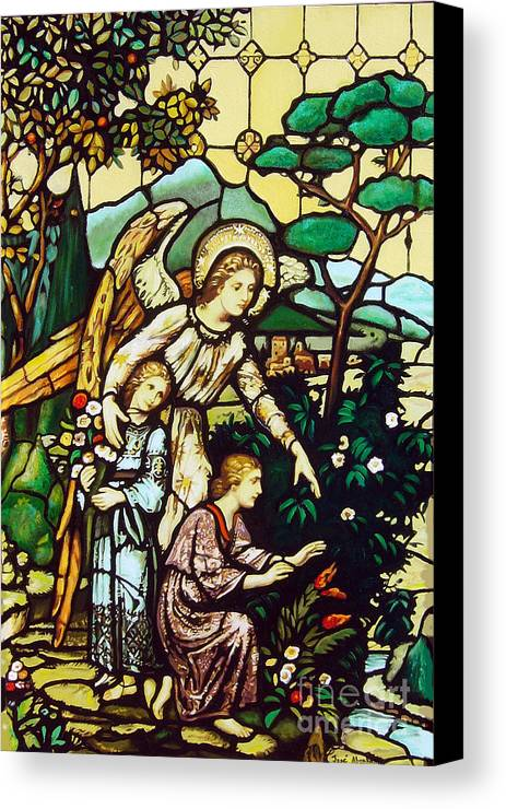 Canvas Print featuring the painting My Angel by Jose Manuel Abraham