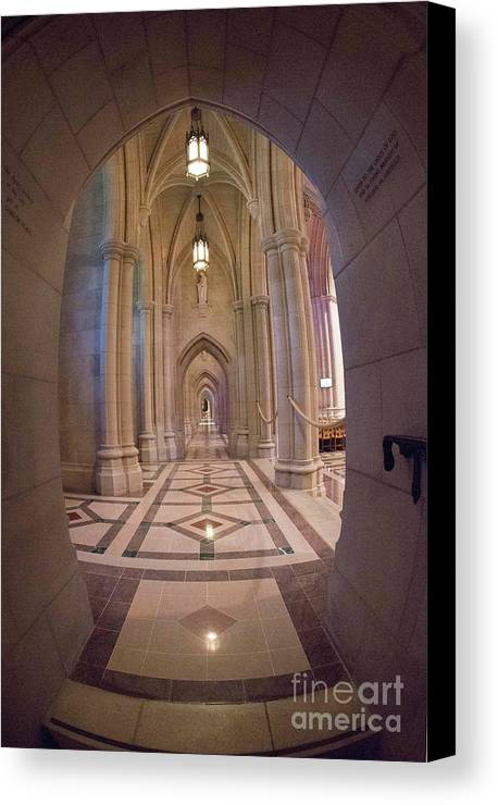 National Cathedral Canvas Print featuring the photograph National Cathedral - 10 by David Bearden