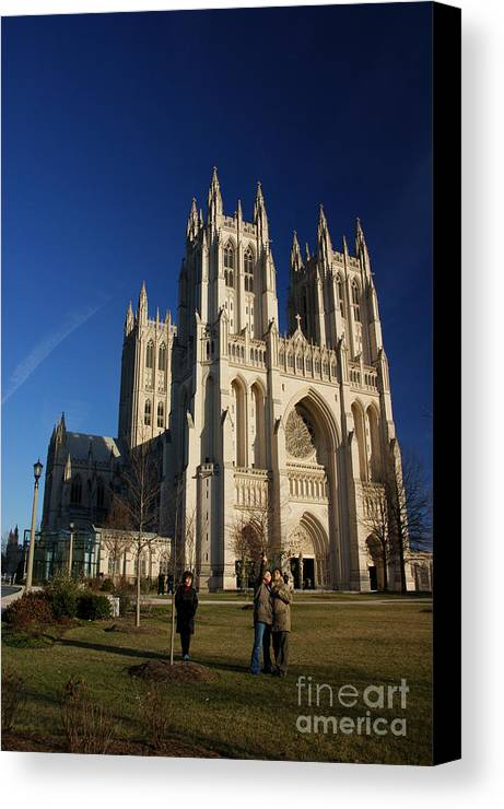 Cathedral Canvas Print featuring the photograph National Cathedral by David Pettit