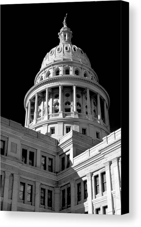 Gothic Canvas Print featuring the photograph Near Infrared Image Of The Texas State Capitol by David Thompson