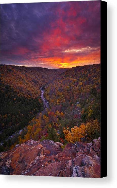 West Virginia Canvas Print featuring the photograph Neverending Autumn by Joseph Rossbach
