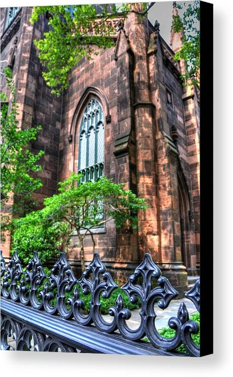 New York Canvas Print featuring the photograph New York Church by Kelly Wade