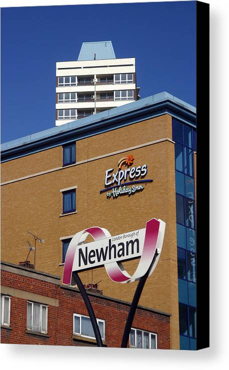 Jez C Self Canvas Print featuring the photograph Newham Express by Jez C Self