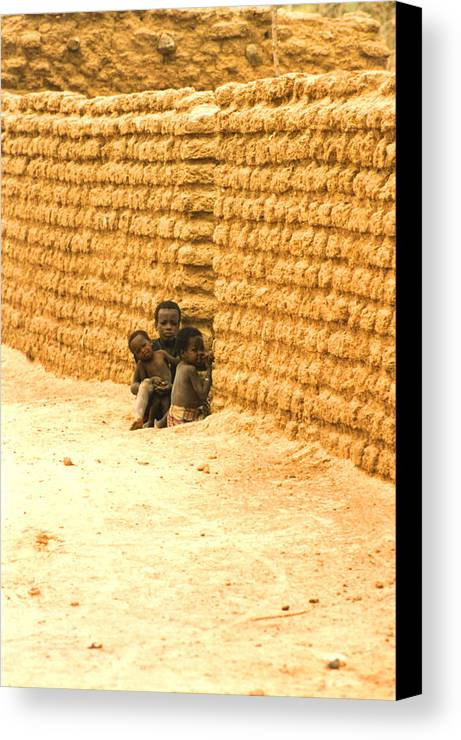 Africa Canvas Print featuring the photograph Niger Village Brothers by Robert M Brown II