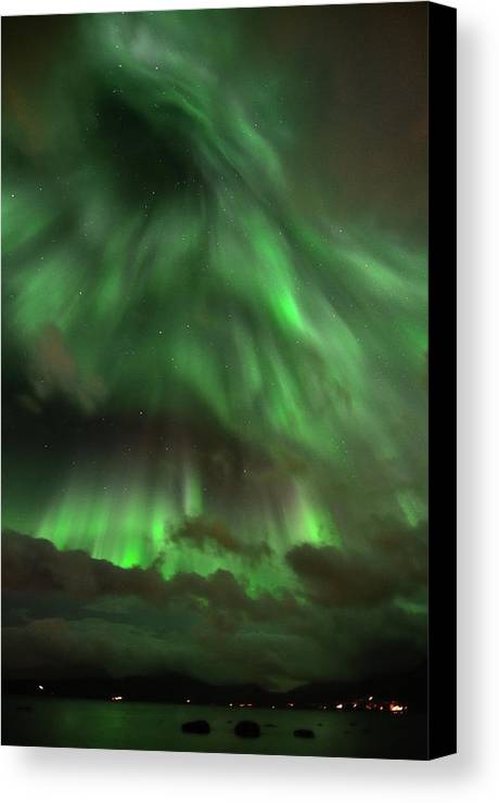 Vertical Canvas Print featuring the photograph Nightsky by John Hemmingsen