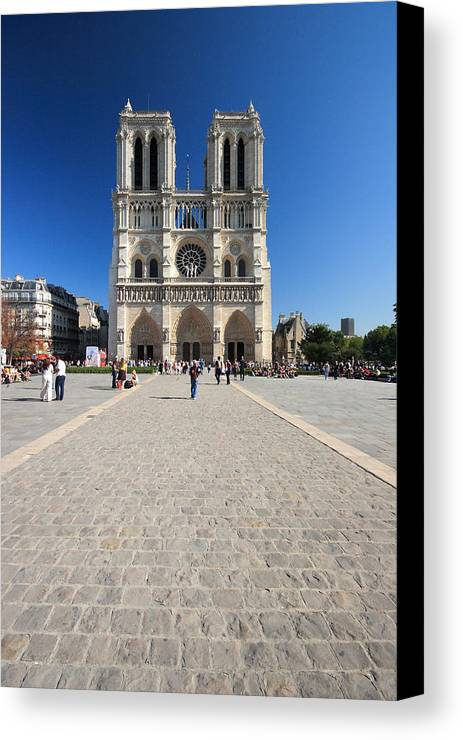 Notre Dame Canvas Print featuring the photograph Notre Dame De Paris Cathedral by Pierre Leclerc Photography