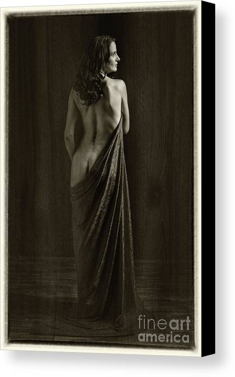 Nude Canvas Print featuring the photograph Nude Young Woman 1718.500 by Kendree Miller
