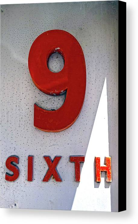 Bristol Canvas Print featuring the photograph Number 9 Sixth From A 50's Building by Denise Beverly