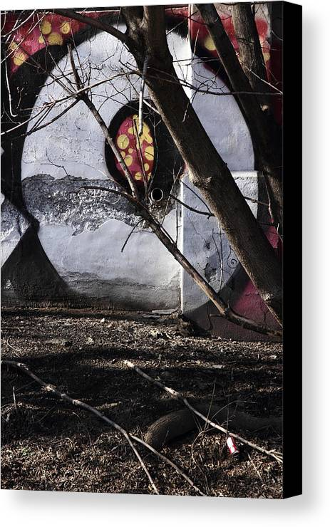 Urban Canvas Print featuring the photograph O by Kreddible Trout