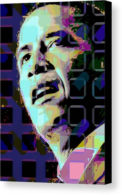 Obama Canvas Print featuring the digital art Obama2 by Scott Davis