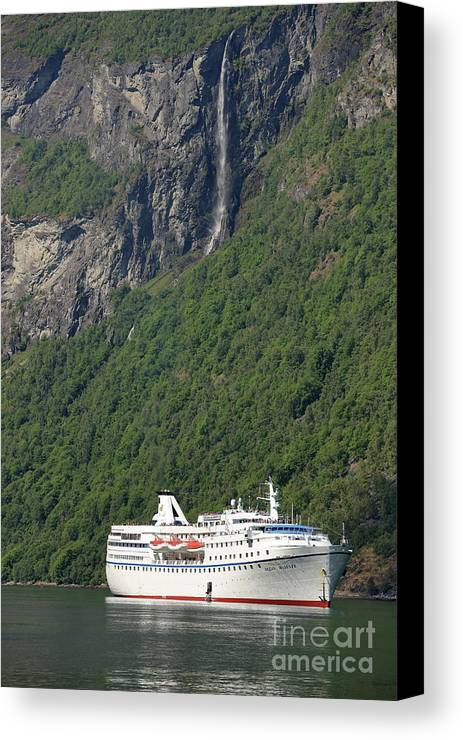 Cruise Canvas Print featuring the photograph Ocean Majesty by Arild Lilleboe