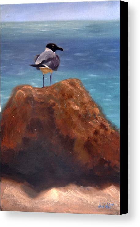 Oil Canvas Print featuring the painting Ocean View by Greg Neal