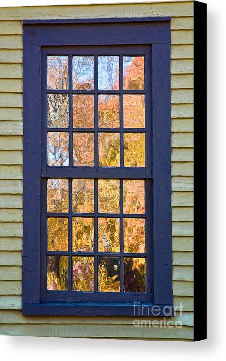 Colonial Canvas Print featuring the photograph October Reflections 1 by Edward Sobuta
