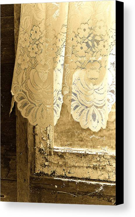 Lace Canvas Print featuring the photograph Old Lace by Linda McRae