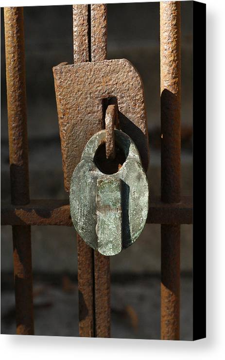 Rust Canvas Print featuring the photograph Old Lock by David Houston
