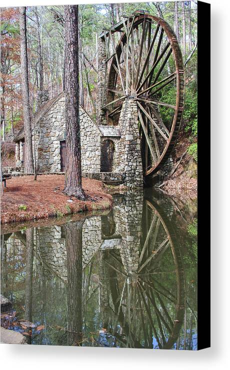 Old Mill Canvas Print featuring the photograph Old Mill 2 by Tina Cannon