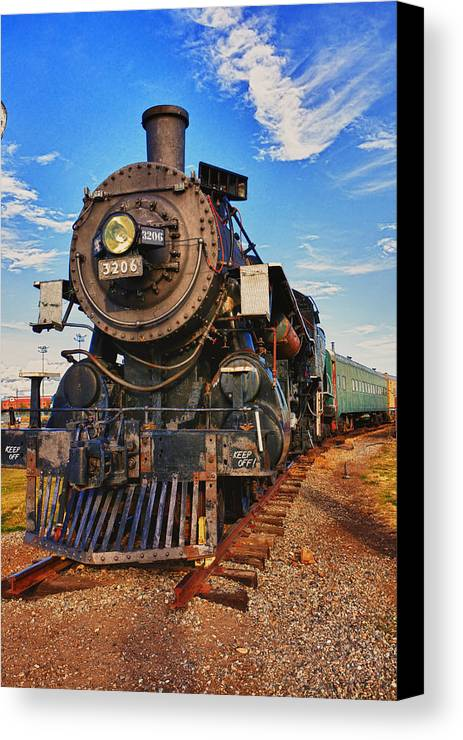 Old Train Canvas Print featuring the photograph Old Train by Garry Gay