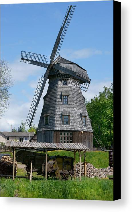 Windmill Canvas Print featuring the photograph Old Windmill by Aleksandr Volkov