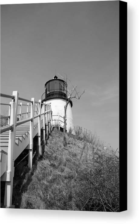 Lighthouse Canvas Print featuring the photograph Owl's Head Light by Becca Brann