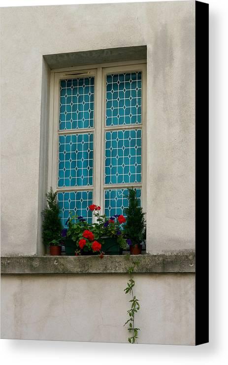 Canvas Print featuring the photograph Paris - Window by Jennifer McDuffie