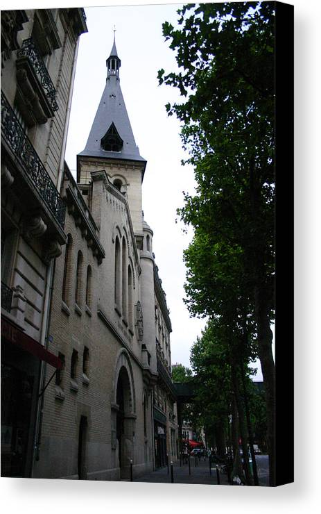 Canvas Print featuring the photograph Paris Church 2 by Jennifer McDuffie