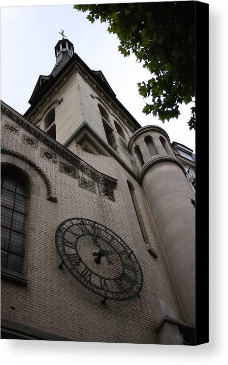 Canvas Print featuring the photograph Paris Church by Jennifer McDuffie