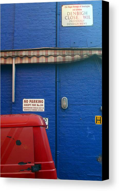 Jez C Self Canvas Print featuring the photograph Park Thee Not by Jez C Self