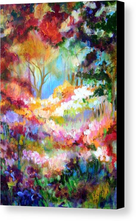 Landscape Canvas Print featuring the painting Pastoral Scene by Elaine Cory