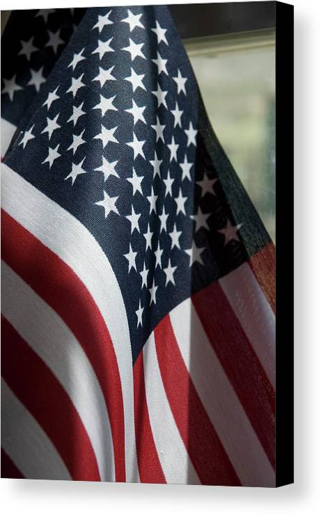 United States Canvas Print featuring the photograph Patriotism by Jerry McElroy