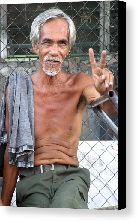Photographer Canvas Print featuring the photograph Peace Man 2 by Jez C Self