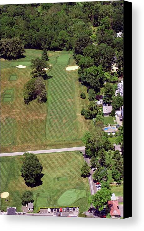 Philadelphia Cricket Club Canvas Print featuring the photograph Philadelphia Cricket Club St Martins Golf Course 1st Hole 415 W Willow Grove Avenue Phila Pa 19118 by Duncan Pearson