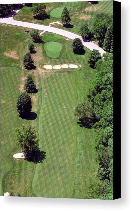 Philadelphia Cricket Club Canvas Print featuring the photograph Philadelphia Cricket Club St Martins Golf Course 3rd Hole 415 West Willow Grove Ave Phila Pa 19118 by Duncan Pearson